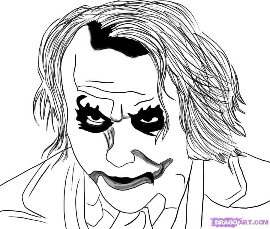 How to draw the Portrait of the Joker from
