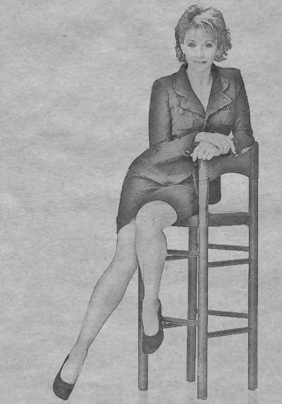 How to draw the woman sitting on a chair a pencil step by step