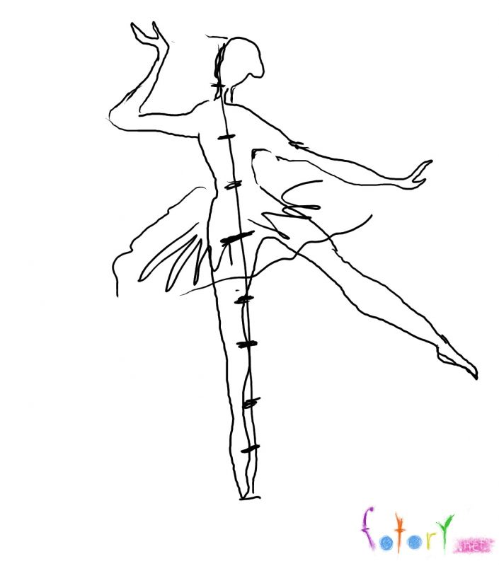 How to draw the girl in a skirt with a pencil step by step 2