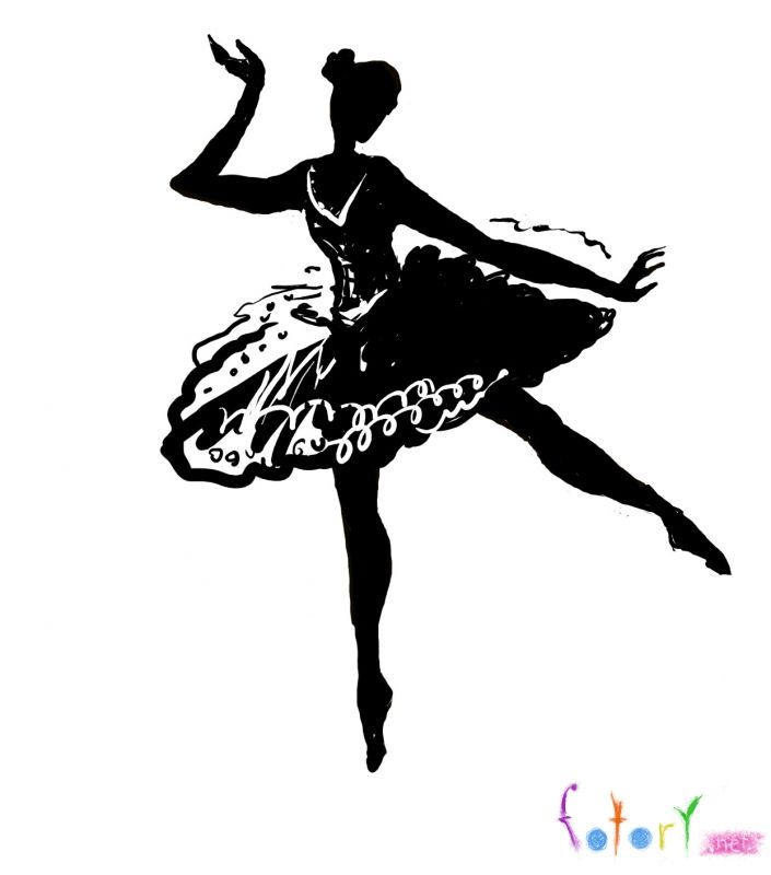 How to draw the ballerina with a pencil step by step