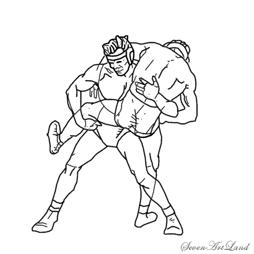 How to draw two fighters with a pencil step by step