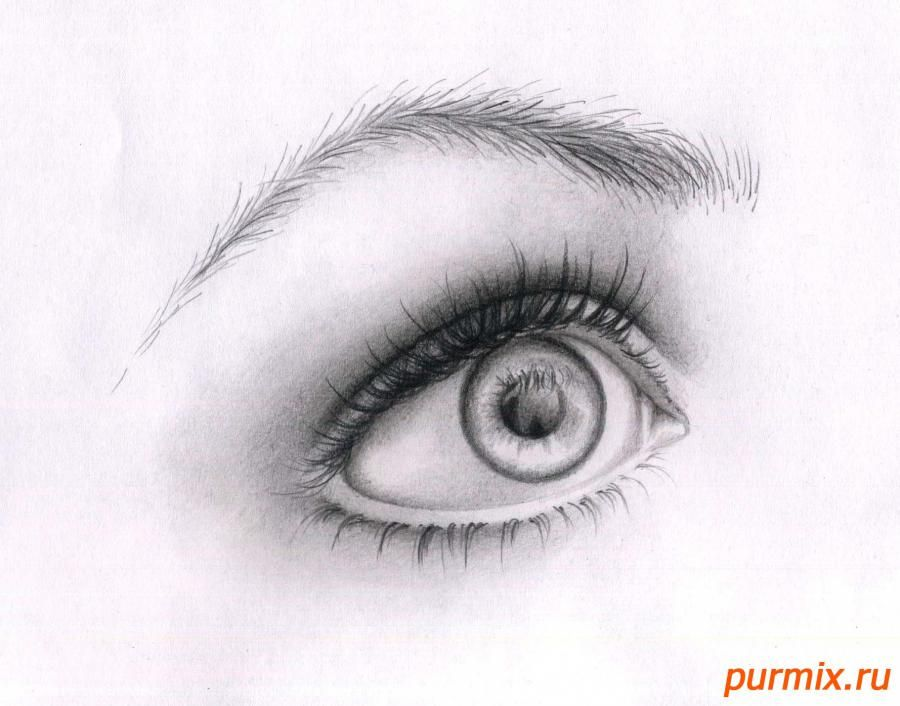 As it is correct to draw an eye a simple pencil on paper