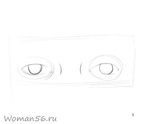We draw a female eye 5