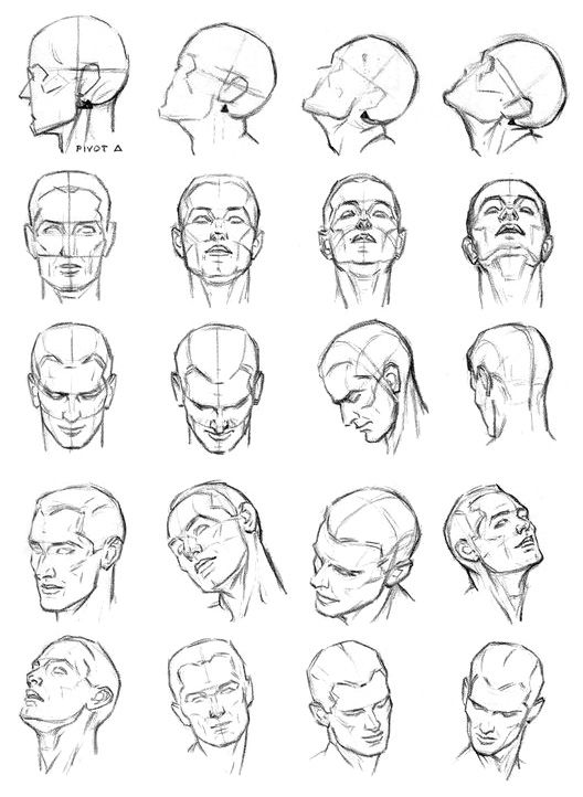 How to draw the Movement of the head on a neck a pencil