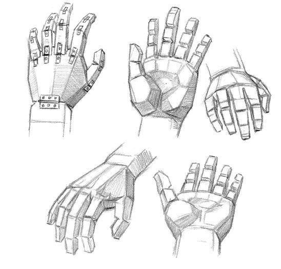 Block shapes of hands