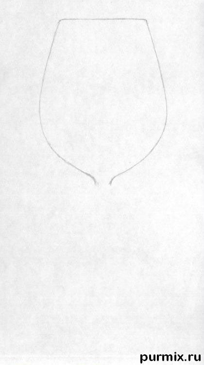 How to draw a realistic wine glass on paper step by step for How to draw on wine glasses