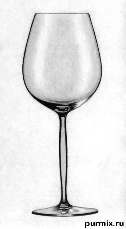 How to draw a realistic wine glass on paper step by step
