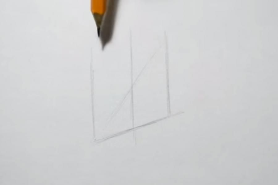 How to draw a totemic column with a pencil on paper 2