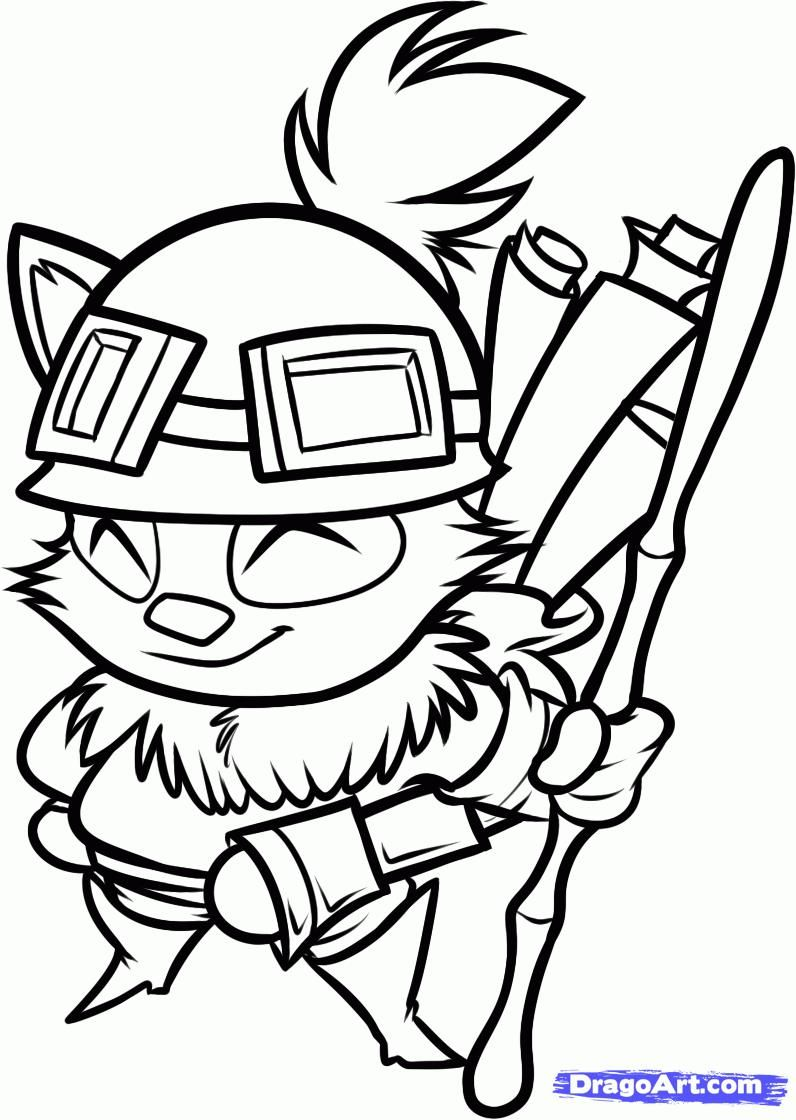 How to draw Timo's (Teemo) hero from League of Legends