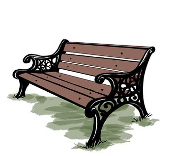 How to draw a bench with a pencil step by step