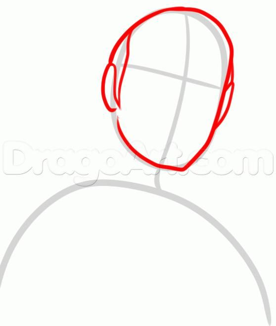 How to draw the Noob Saybota from Mortal Kombat with a pencil 3