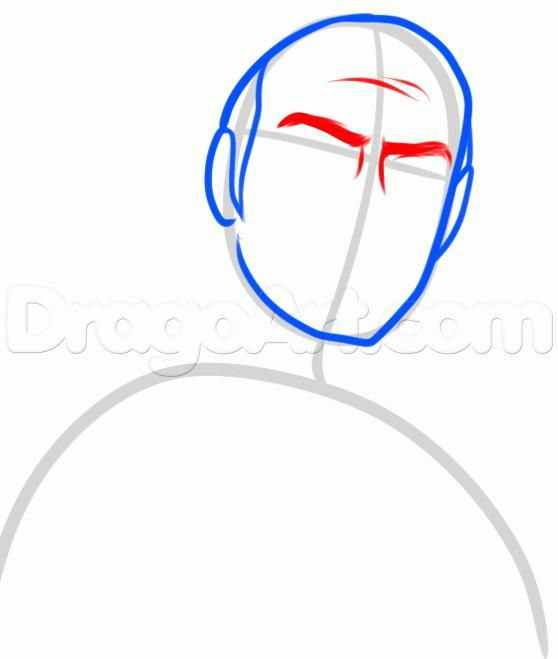 How to draw the Noob Saybota from Mortal Kombat with a pencil 4