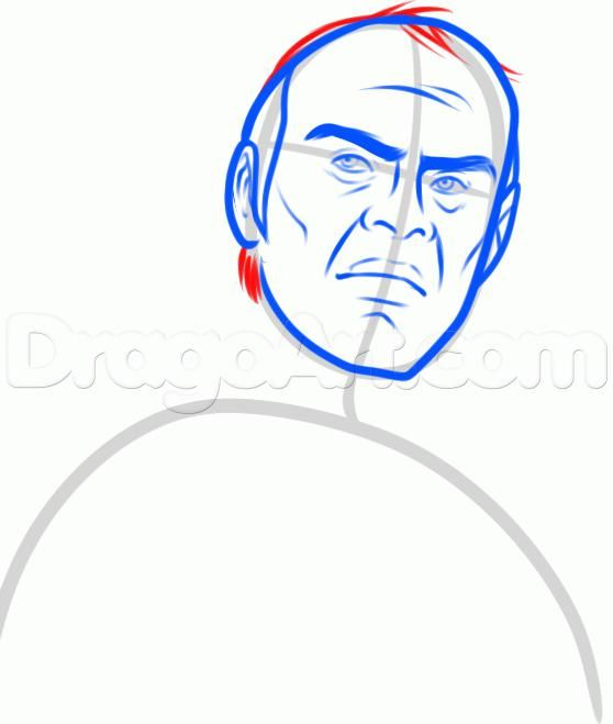 How to draw the Noob Saybota from Mortal Kombat with a pencil 7