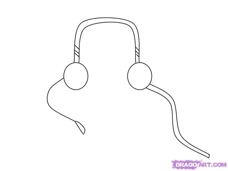 As it is simple to draw earphones with a pencil step by step