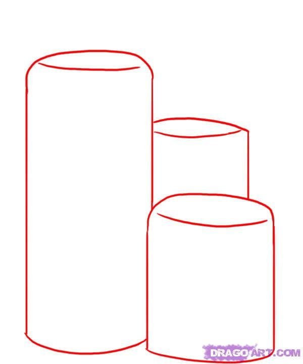 How to draw two Glasses with a pencil step by step 2