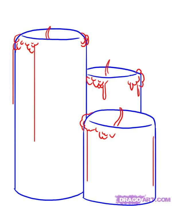 How to draw two Glasses with a pencil step by step 3