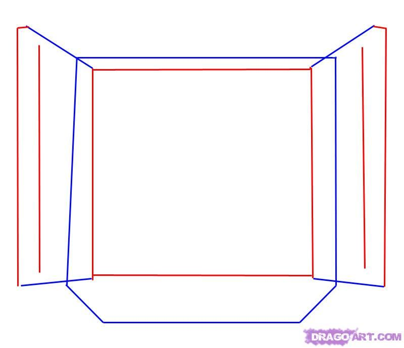 How to draw the Cube Rubik with a pencil step by step 3