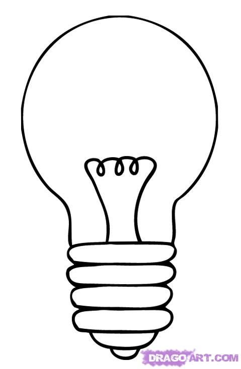 How to draw the Bulb with a pencil step by step