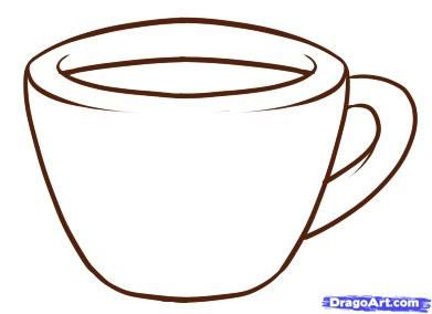 How to draw the Cup with a pencil step by step