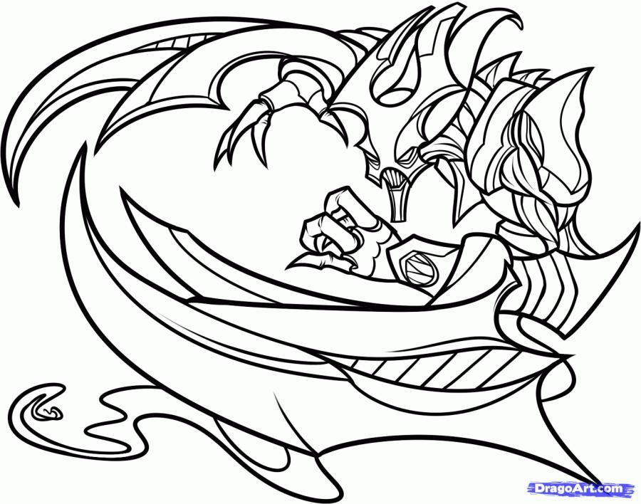 How to draw the Nocturne from the game League of Legends