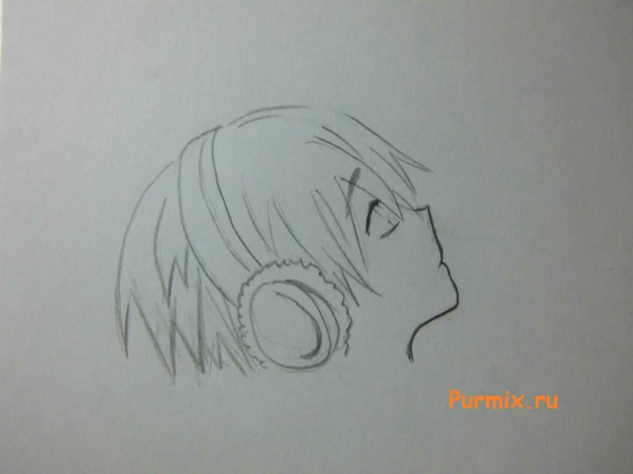 How to learn to draw Ritsu Taynak from K-on! simple pencil 4