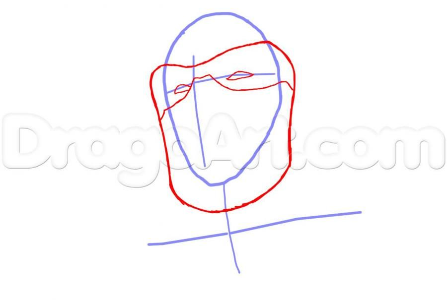How to draw Altair from Assassins Creed with a pencil step by step 3
