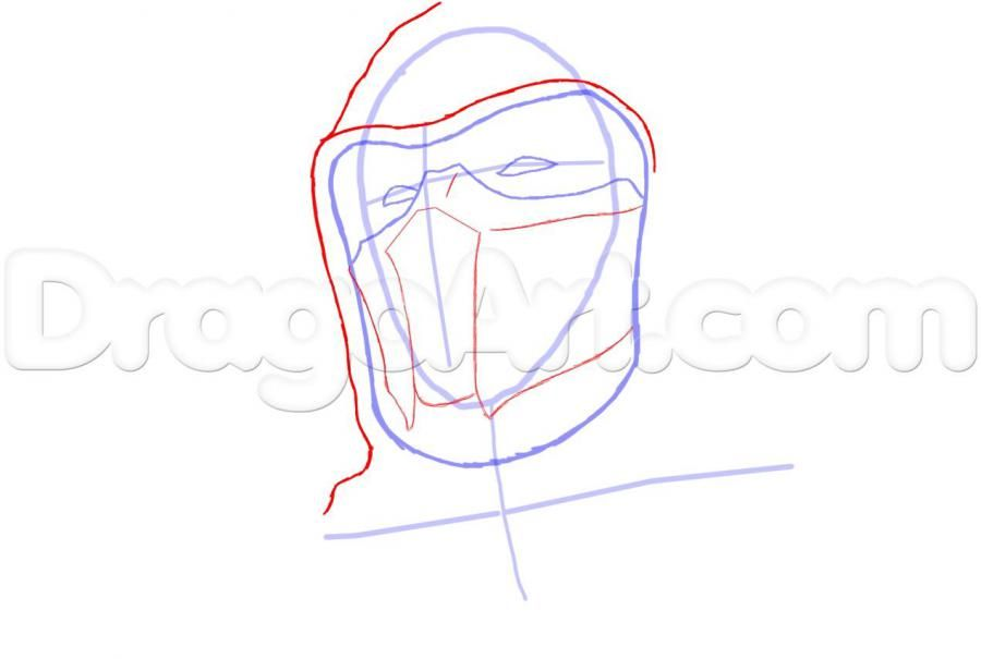 How to draw Altair from Assassins Creed with a pencil step by step 4