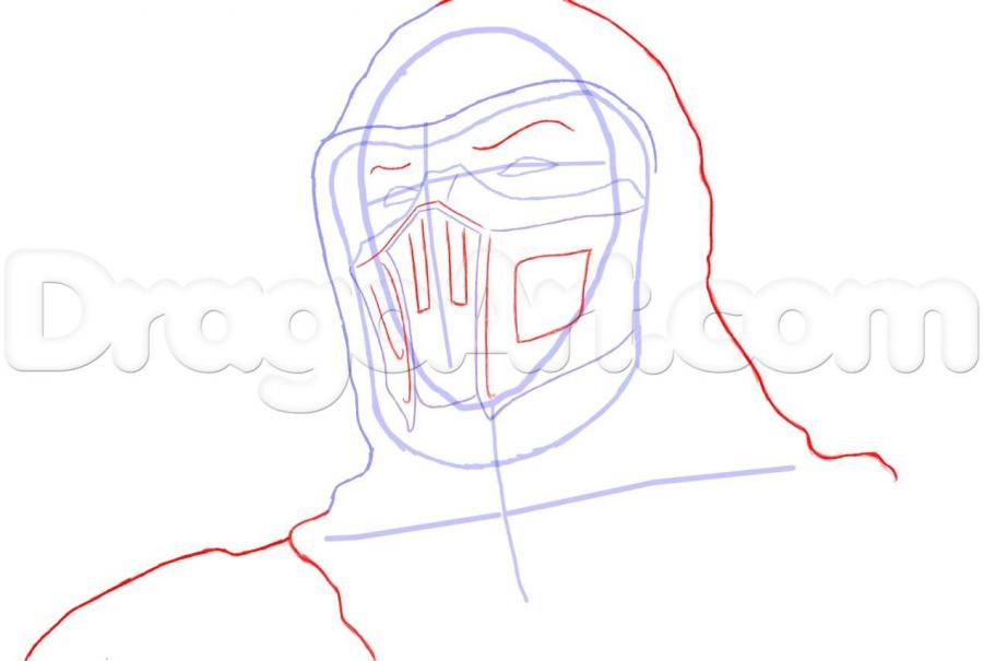 How to draw Altair from Assassins Creed with a pencil step by step 5