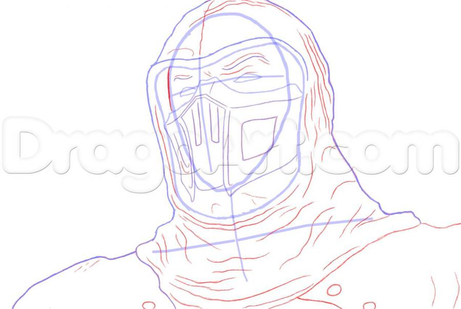 How to draw Altair from Assassins Creed with a pencil step by step 6
