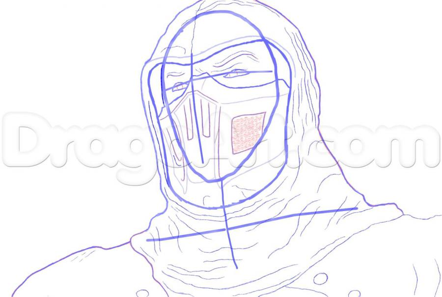 How to draw Altair from Assassins Creed with a pencil step by step 7