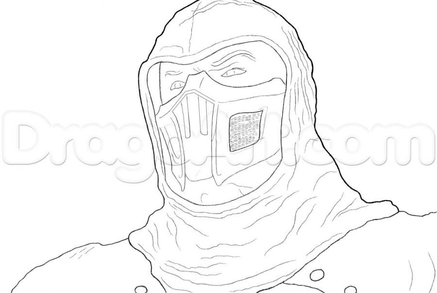 How to draw the Noob Saybota from Mortal Kombat with a pencil