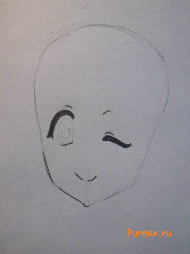 How to draw Sank's Aria from Sank Rea's anime with a pencil step by step 3