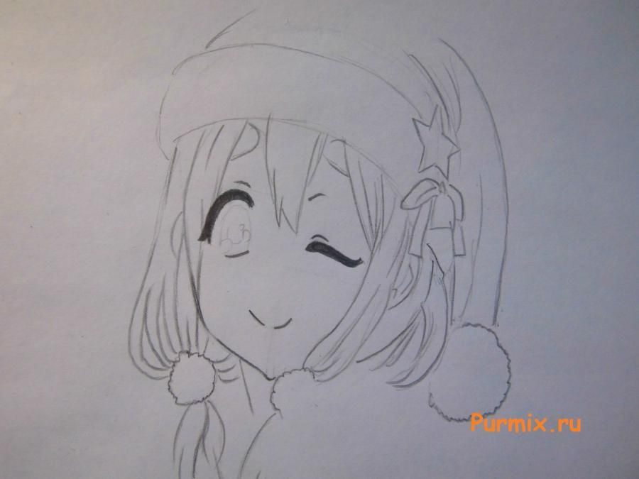 How to draw Sank's Aria from Sank Rea's anime with a pencil step by step 4