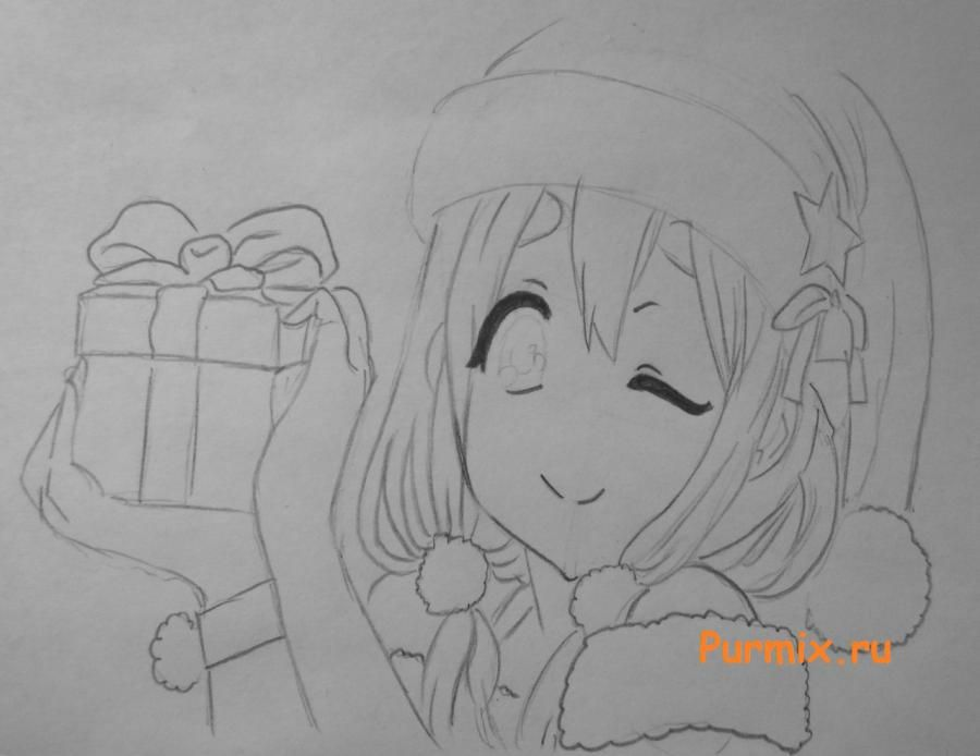 How to draw Sank's Aria from Sank Rea's anime with a pencil step by step 5