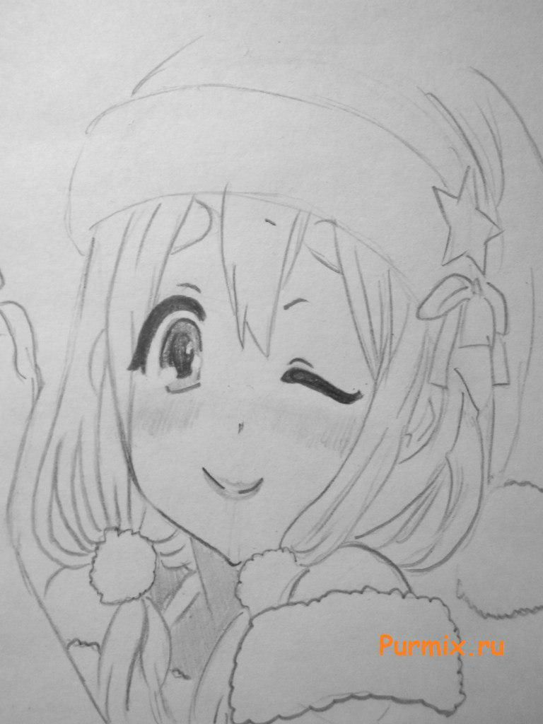 How to draw Sank's Aria from Sank Rea's anime with a pencil step by step 6