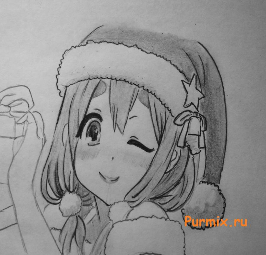 How to draw Sank's Aria from Sank Rea's anime with a pencil step by step 7