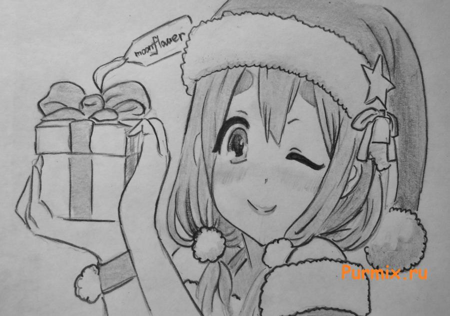 How to draw Tsumugi Kotobuki in a New Year's suit from K-On!