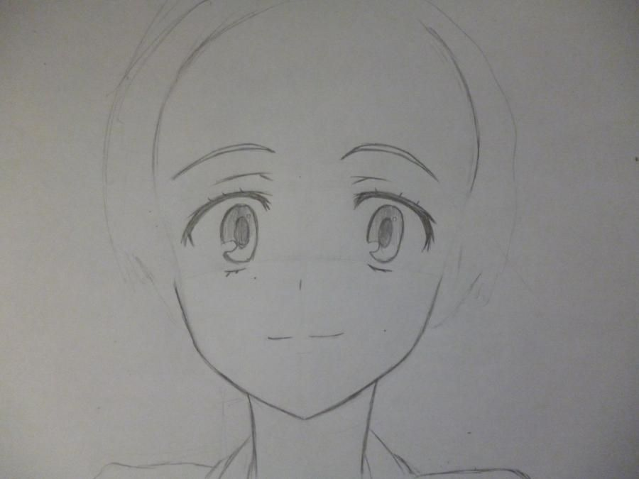 How to draw Akatsuki from an anime the Ravine the Horizon with a pencil 3