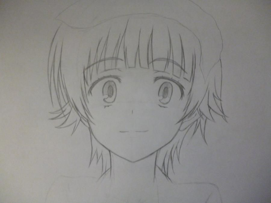 How to draw Akatsuki from an anime the Ravine the Horizon with a pencil 4