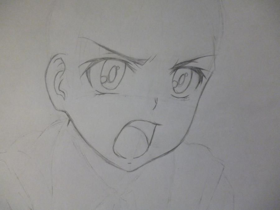 How to draw Minori from an anime the Ravine the Horizon with a pencil 3