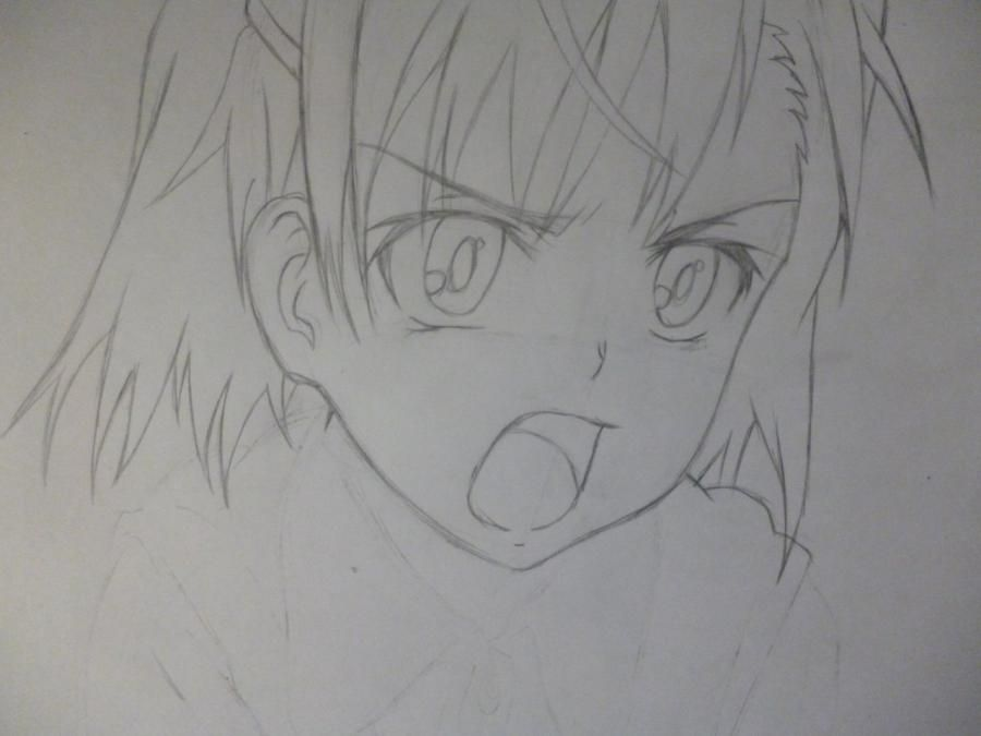 How to draw Minori from an anime the Ravine the Horizon with a pencil 4