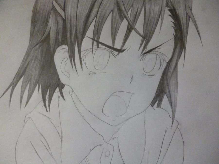 How to draw Minori from an anime the Ravine the Horizon with a pencil 6