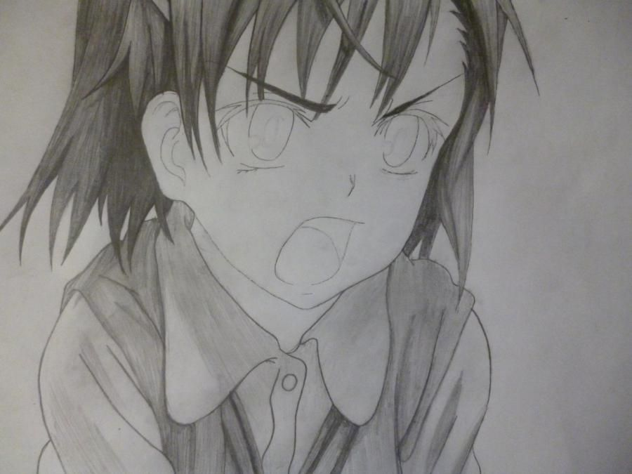 How to draw Minori from an anime the Ravine the Horizon with a pencil 7
