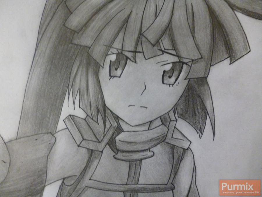 How to draw Naotsugu from an anime the Ravine the Horizon with a pencil 9