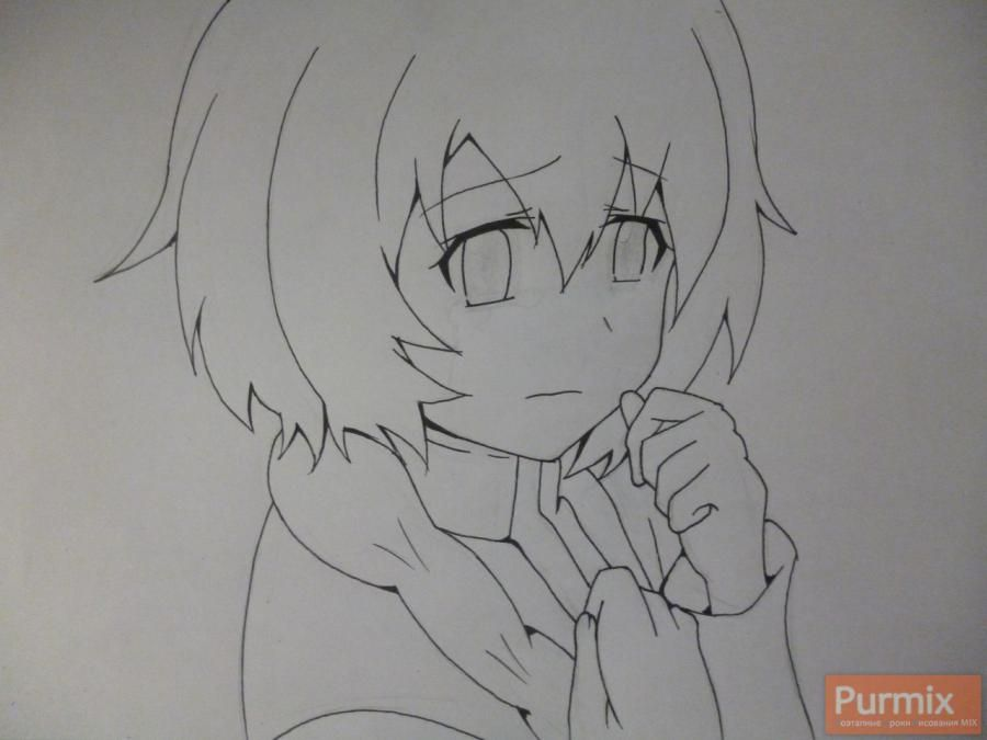 How to draw to Sudzukh Amane from an anime the Matte Gate 5