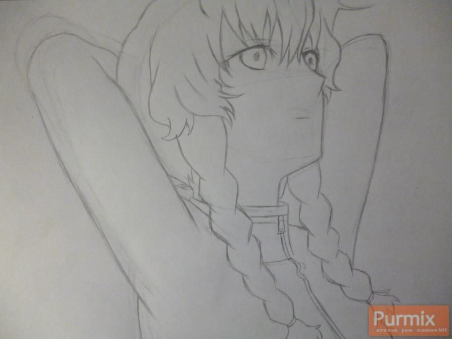 How to draw Mayuri Siin from an anime the Matte Gate 4