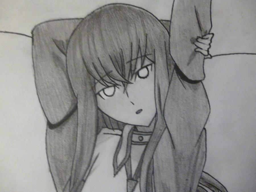 How to draw Makhiro Fuva from an anime the Storm of losses with a pencil 11