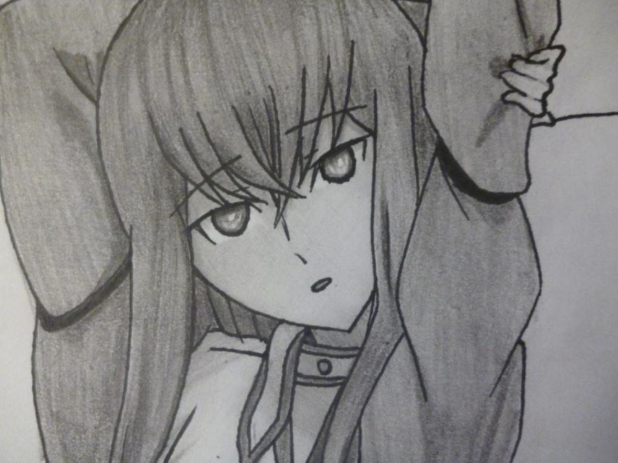 How to draw Makhiro Fuva from an anime the Storm of losses with a pencil 12