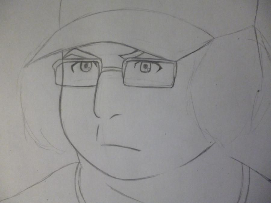 How to draw Yoshino Takigava from an anime the Storm of losses with a pencil 3