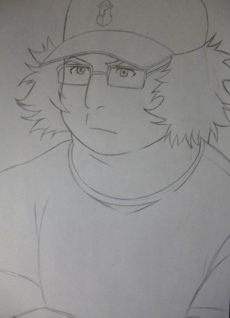 How to draw Yoshino Takigava from an anime the Storm of losses with a pencil 4
